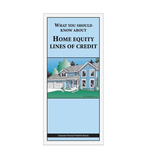 6392BFN - Home Equity Booklet - What You Should Know About Home Equity Lines of Credit