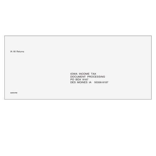 IAAR410 - IA All Returns & E-File Envelope