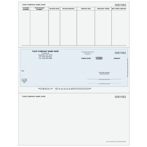 L81062 - Accounts Payable Middle Business Check