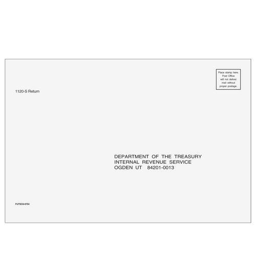 FUTSC610 - 1120-S Envelope - Ogden, UT