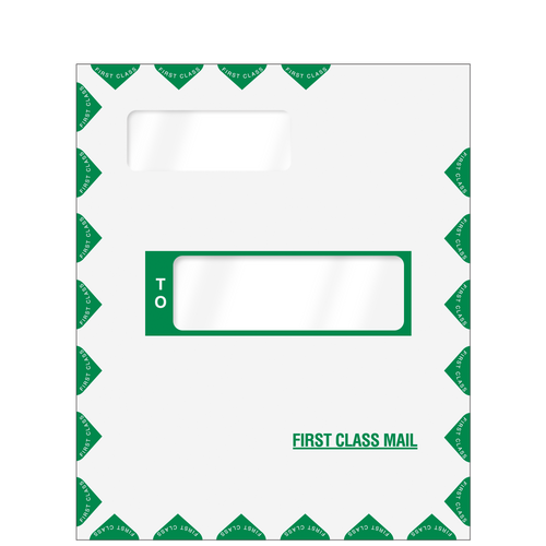 80385 - Offset Window First Class Mailing Envelope (Peel & Close)