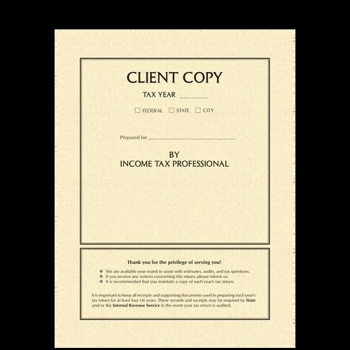 8784 - Classic Tax Return Folder with Pockets