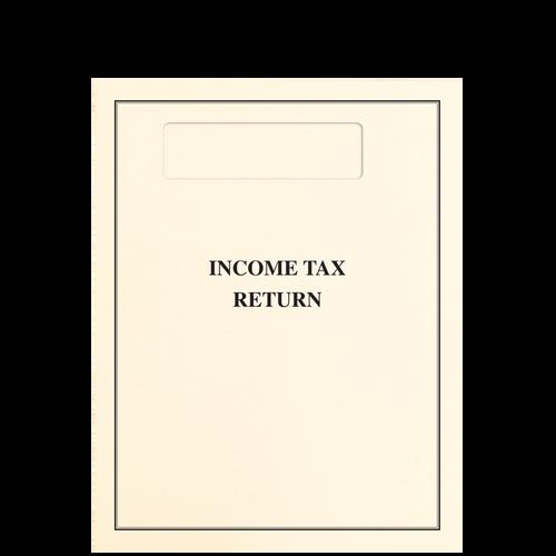 OTOPXX - Top Staple Income Tax Return Folder with Single Window