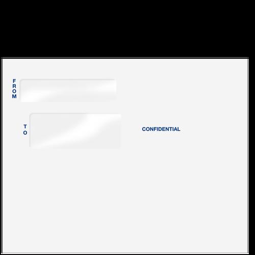 80596 - Double Window Confidential 9 1/2 x 12 Envelope (Peel & Close)