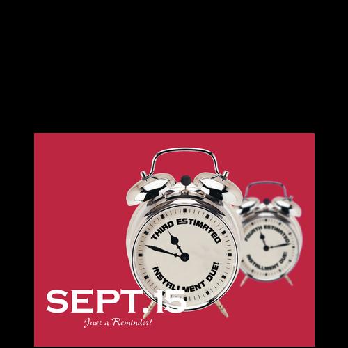 PC50 - Tax Estimate Reminder Postcard - September 15