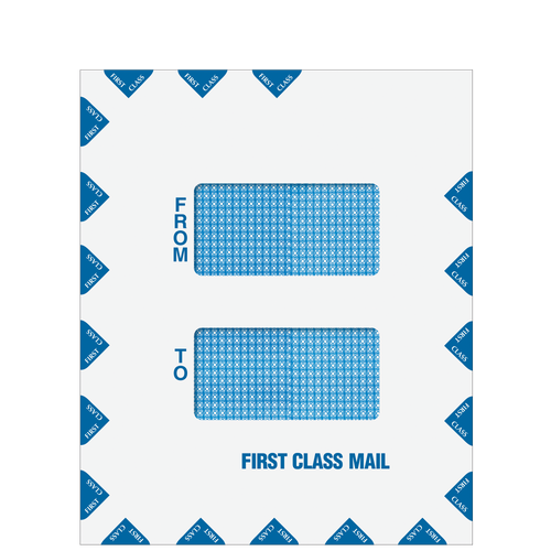 80730 - Double Window First Class Mail Envelope