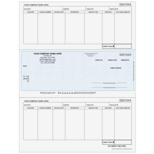 L1043 - Accounts Payable Middle Business Check