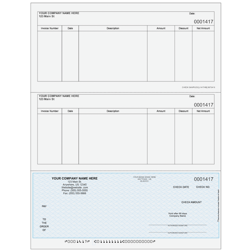 L1417 - Accounts Payable Bottom Business Check