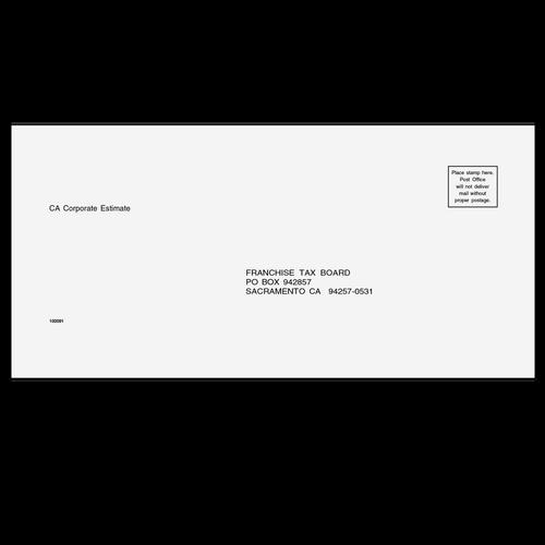 10009111 - Estimate Envelope - California Corp