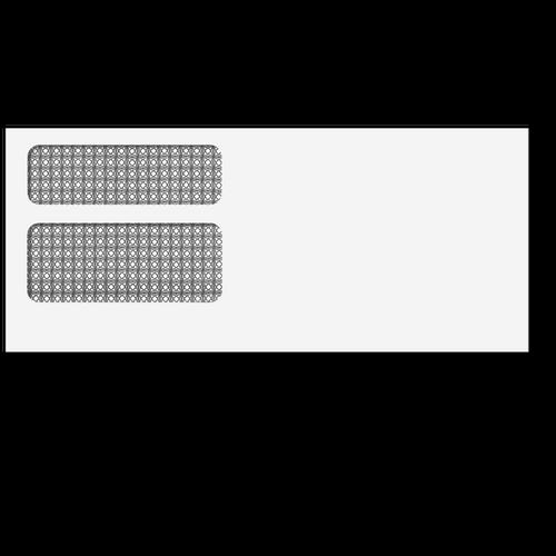 E9922S13 – Double Window Envelope (Self Seal)
