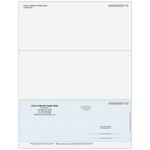 5110SKY - Multi-Purpose Bottom Business Check