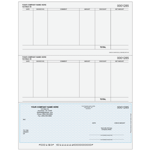 L1285 - Accounts Payable Bottom Business Check