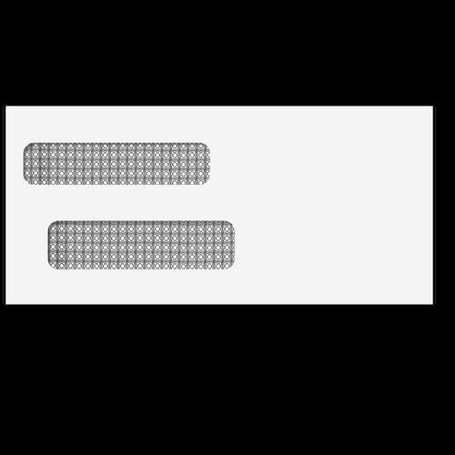 E40244S - 4 1/8x8 7/8  Double Window Envelope (Self Seal)