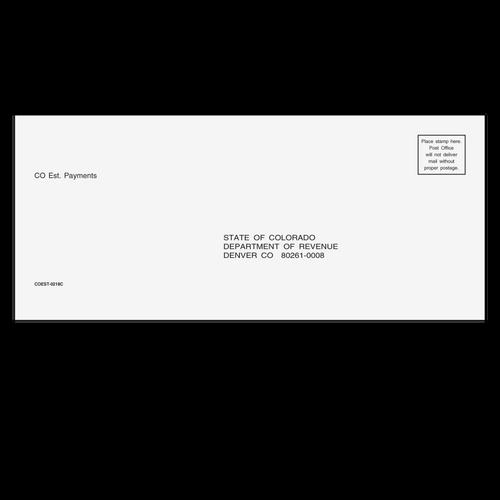 COEST10 - Estimate/Efile Envelope - Colorado