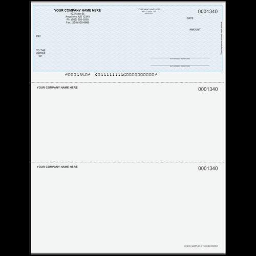 L1340 - Multi-Purpose Top Business Check