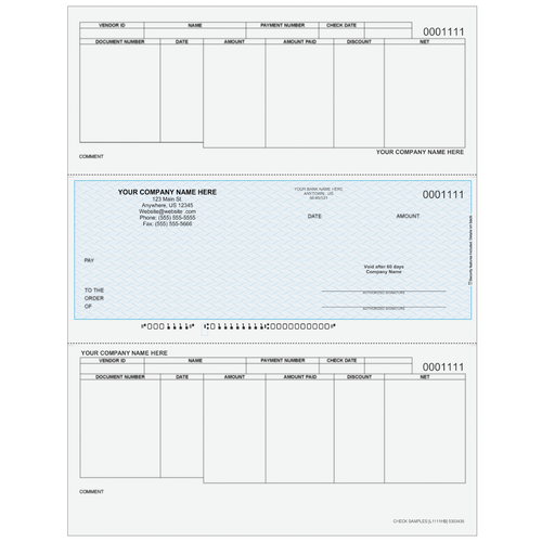 L1111 - Accounts Payable Middle Business Check