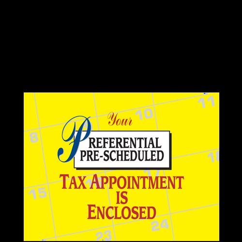 PC35 - Pre-Scheduled Tax Appointment Postcard - Calendar Design