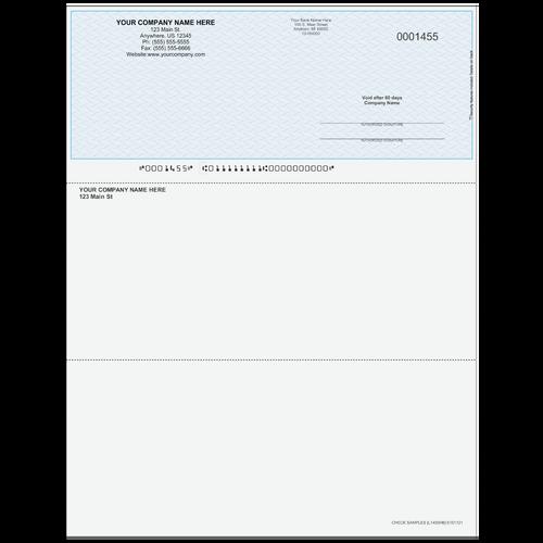 L1455 - Multi-Purpose Top Business Check