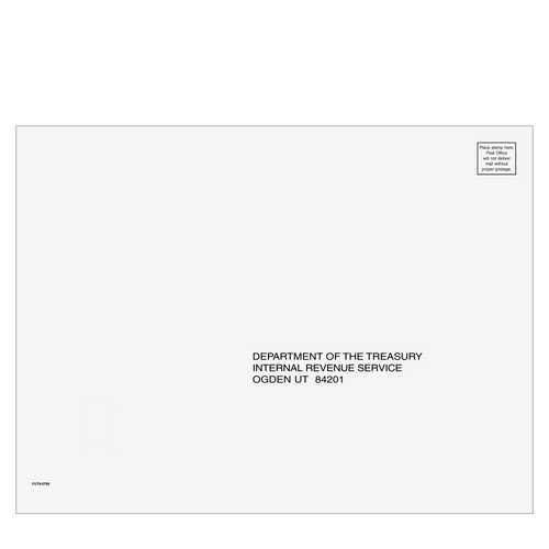 FUT910 - 1040 1120 1120-S 1065 Envelope - Ogden, UT 9 x 12