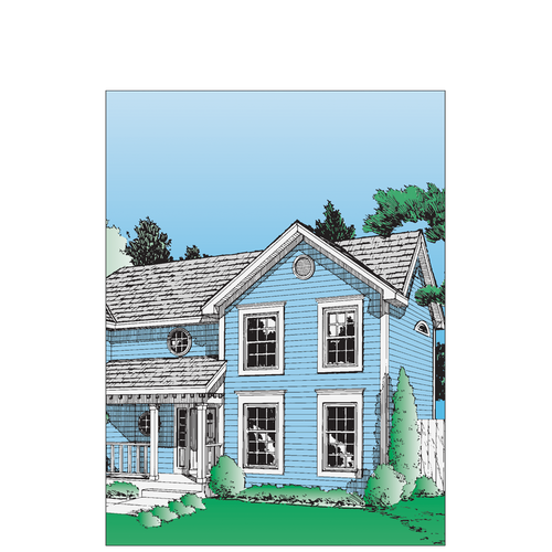 7847 - Mortgage Application Folder - Colonial Style (Letter Size)