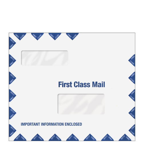 ENV600 - Double Window First Class Envelope (10.25 x 12)
