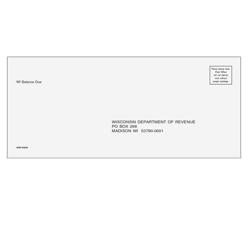 WIB410 - Balance Due Envelope - Wisconsin