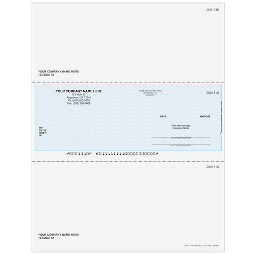 L1310C - Multi-Purpose Middle Business Check