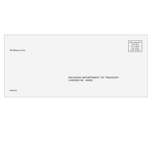 MIB410 - Balance Due Envelope - Michigan