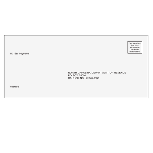 NCEST10 - Estimate Envelope - North Carolina