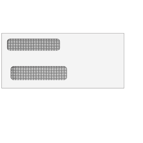 E9156414 - 3 7/8x8 5/8 Double Window Envelope