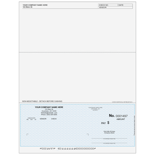 L1497 - Accounts Payable Bottom Business Check