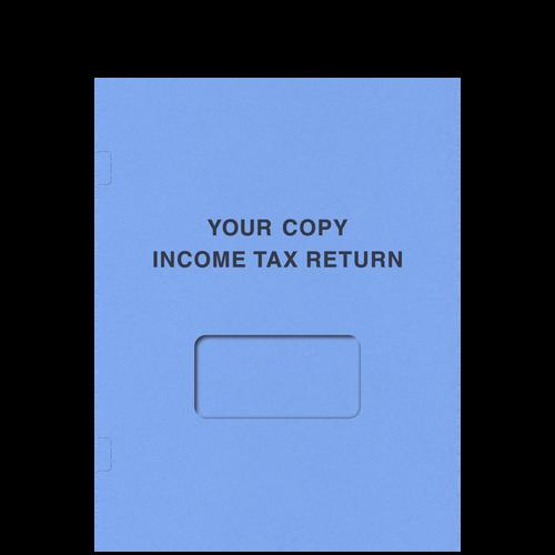 FL41XX - Tax Return Side-Staple Folder (with Window)