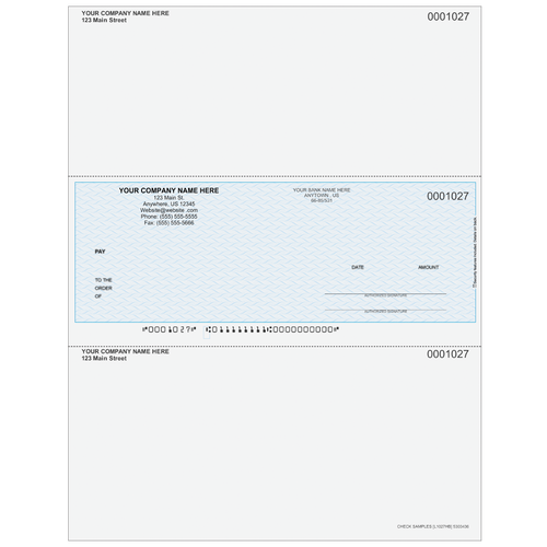 L1027 - Multi-Purpose Middle Business Check