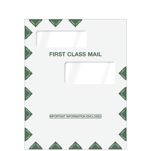 80324 - Double Window First Class Envelope (9 x 11.5)