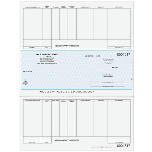 L1617 - Accounts Payable Middle Business Check