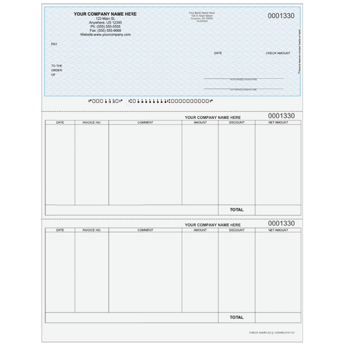L1330 - Accounts Payable Top Business Check