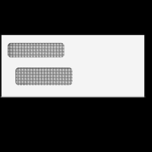 6861S - #9 Double Window Envelope - Self Seal