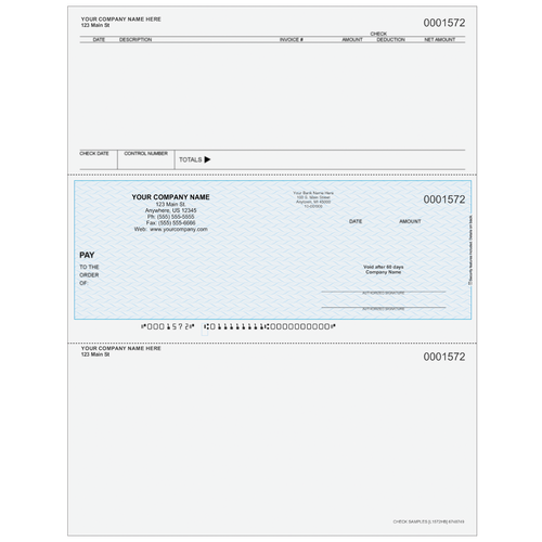 L1572 - Accounts Payable Middle Business Check