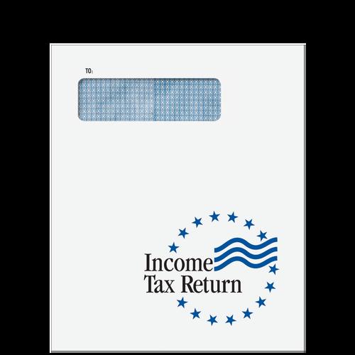 CLNT9F10 - Income Tax Return Window Stars Envelope