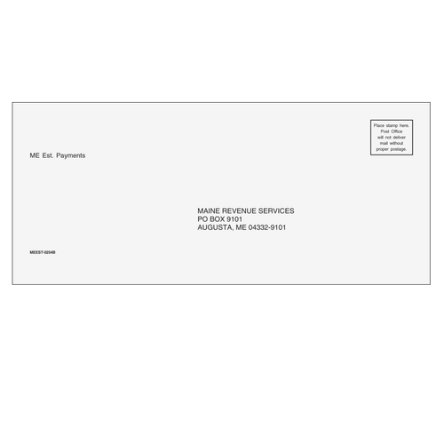MEEST10 - Estimate Envelope - Maine