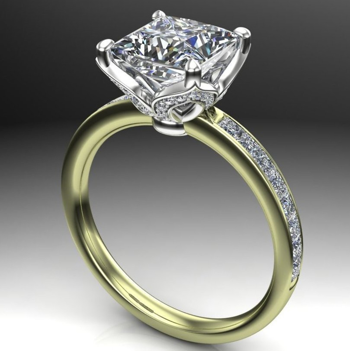 7c940b04e9c6e Fleur | Princess Cut 2 Carat Diamond Engagement Ring