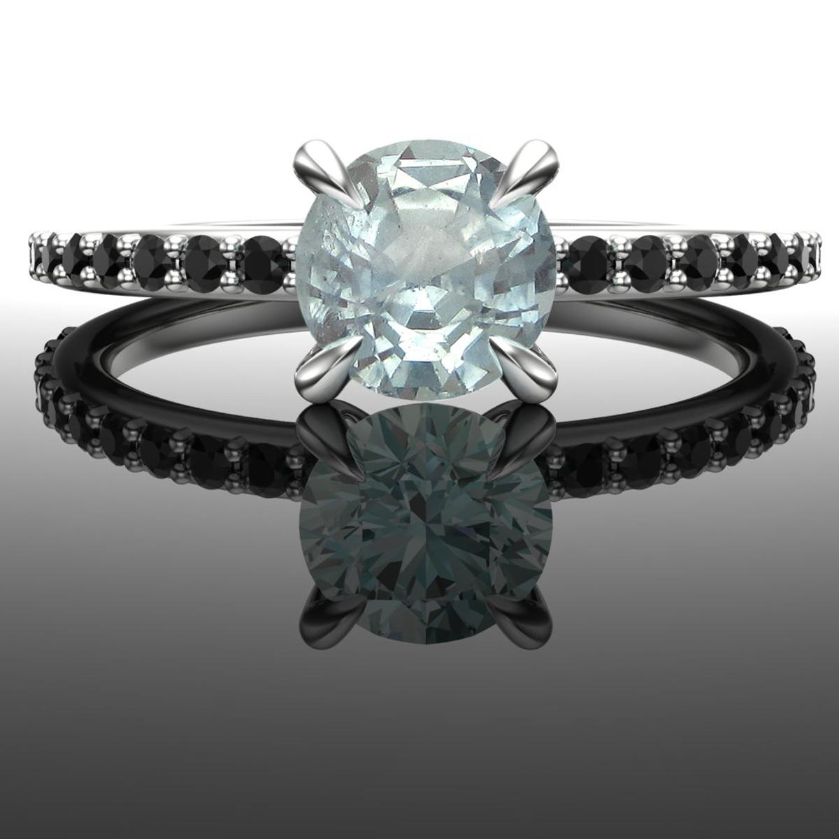 Big Sky | Montana Sapphire & Black Diamond Engagement Ring