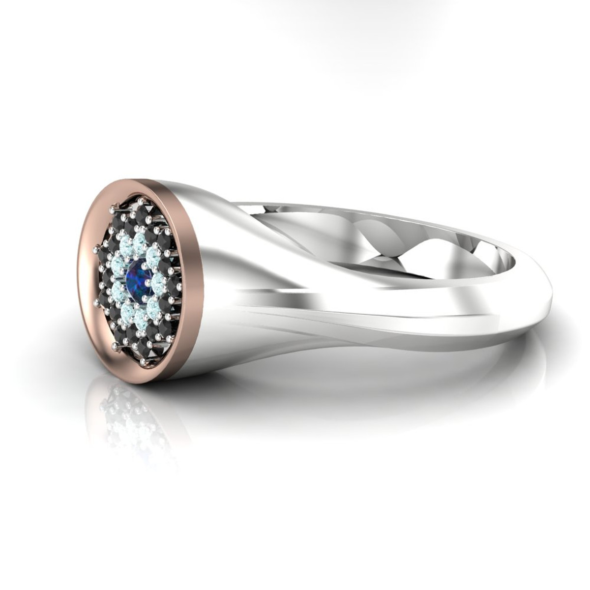 Ring Custom Diamonds With Signet Floral Engagement Small Style hrxtsQdC