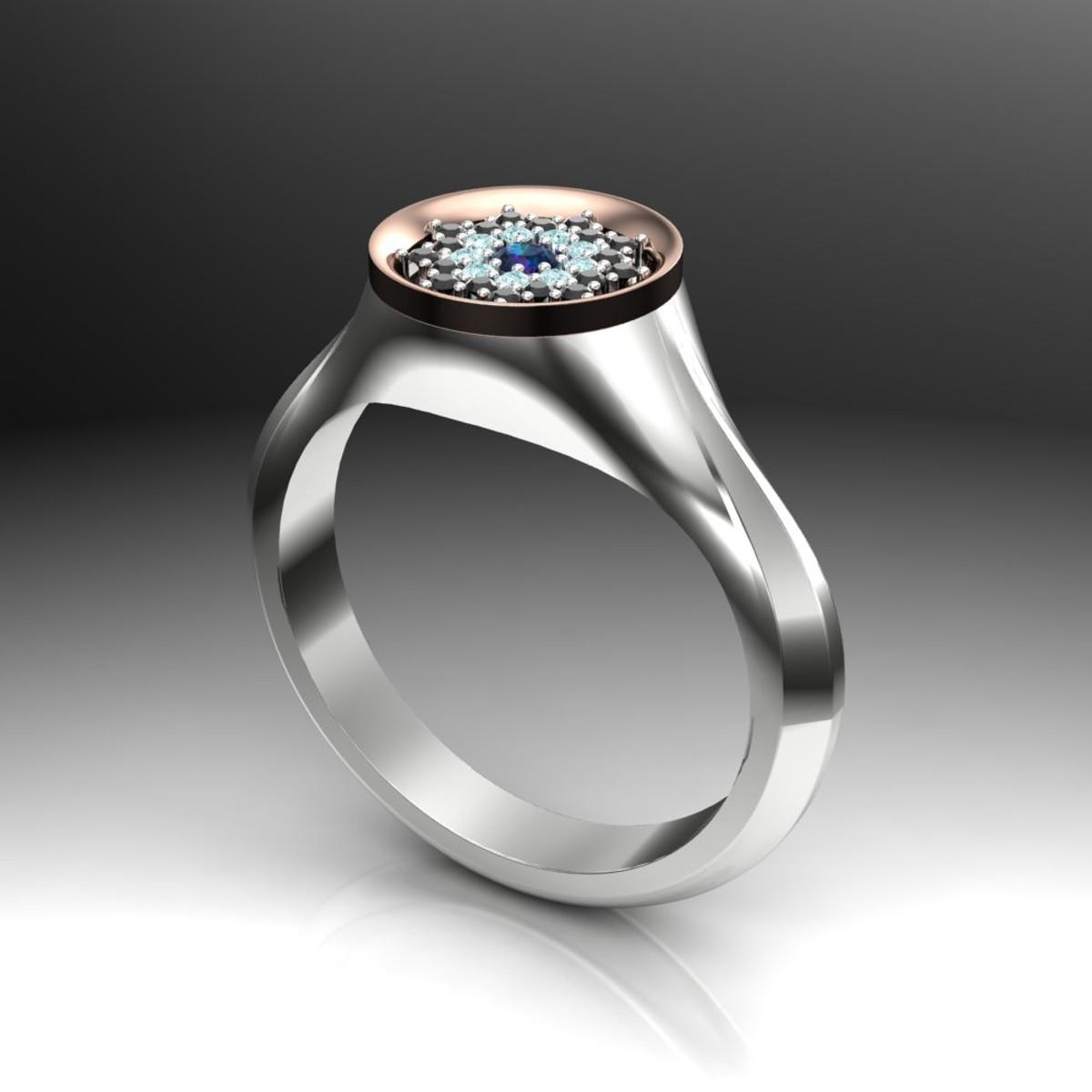 04f9cbdf0 Signet Style Floral Custom Engagement Ring