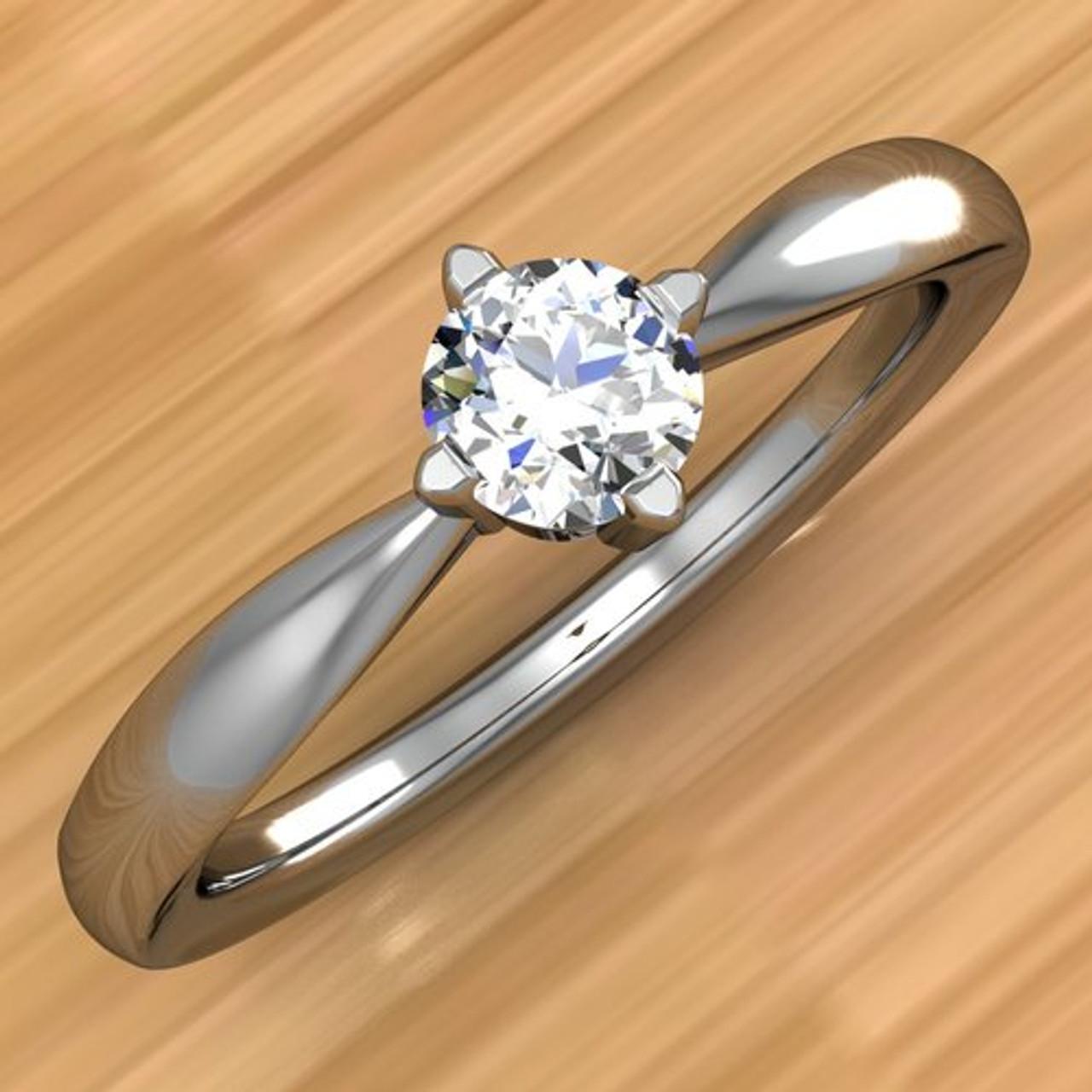 Affordable Diamond Engagement Ring 20 Carat Round Brilliant