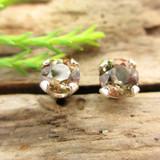 Andalusite stud earrings