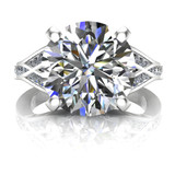Custom Split Band 4 Carat Diamond Engagement Ring