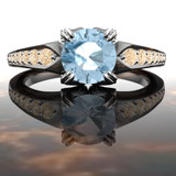 Castiel Montana sapphire engagement ring Supernatural inspired