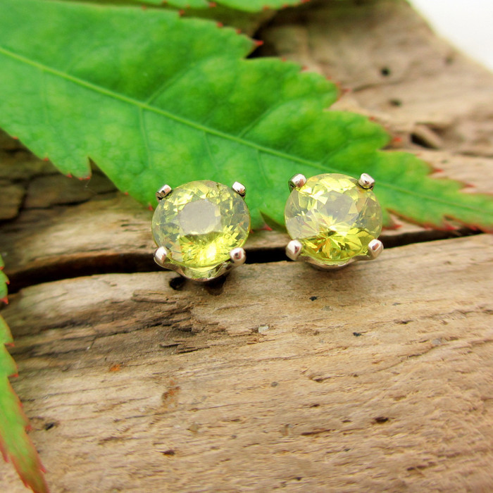 Mali Garnet Stud Earrings, Limited Edition