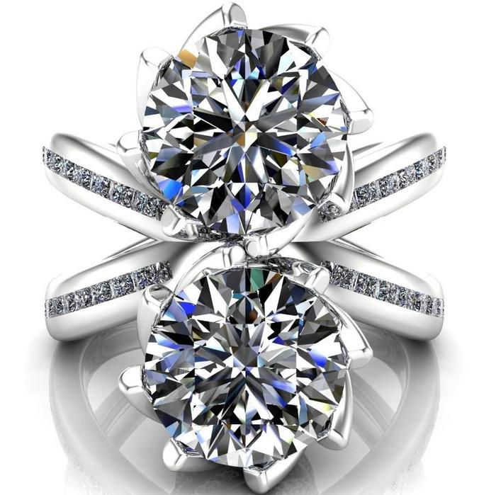 Quixote | Two Stone, 4ct Diamond Engagement Ring